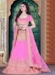 Absorbing Pink Silk Embroidery Work Lehenga Choli