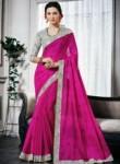 Elegant Pink Silk Designer Saree