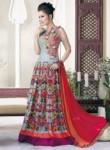 Tantalizing Pista Green Raw Silk Embroidered Work Designer Gown