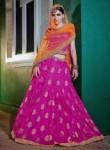Amazing Rani Pink Brocade Embroidery Work Lehenga Choli