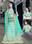 Pretty Pista Green Silk Embroidery Work Lehenga Choli