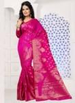 Amazing Rani Pink Banarasi Silk Designer Saree
