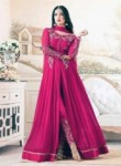 Dazzling Rani Georgette Embroidery Work Anarkali Suit