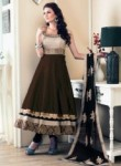 Aspiring Brown Banglori Satin Designer Anarkali Suit