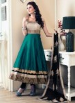Phenomenal Green Banglori Satin Designer Anarkali Suit