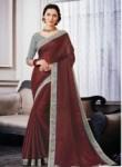Tantalizing Maroon Silk Designer Saree