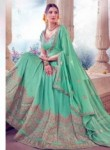 Charming Sea Green Art Silk Embroidery Work Lehenga Choli