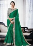 Enthralling Green Silk Designer Saree
