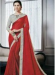 Fantastic Red Silk Designer Saree