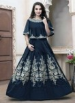 Affluent Black Tapeta Silk Embroidery Work Anarkali Suit