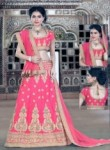 Vibrant Pink Silk Embroidery Work Lehenga Choli