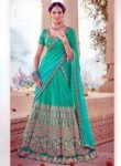 Amazing Light Green Art Silk Embroidery Work Lehenga Choli
