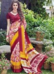 Enthralling Multi Color Georgette Designer Saree