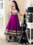 Latest Rani Pink Banglori Satin Designer Anarkali Suit