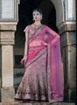 Lovely Pink Velvet Embroidery Work Lehenga Choli