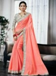 Engaging Hot Pink Silk Designer Saree