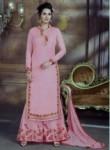 Impressive Pink Bhagalpuri Silk Plazo Churidar Suit