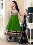 Genius Green Banglori Satin Designer Anarkali Suit