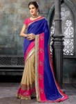 Amusing Purple Georgette Party Wear Saree